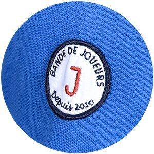 polo wimbledon bleu royal détails