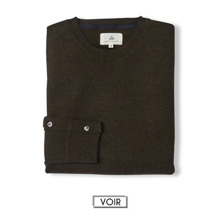 Pull balam col rond cachemire