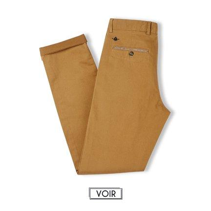 Pantalon chino camel JAQK