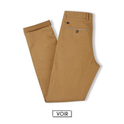 Pantalon Slack Camel